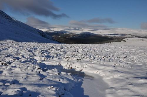 Meall Gorm and distant Ben a'Bhuird
