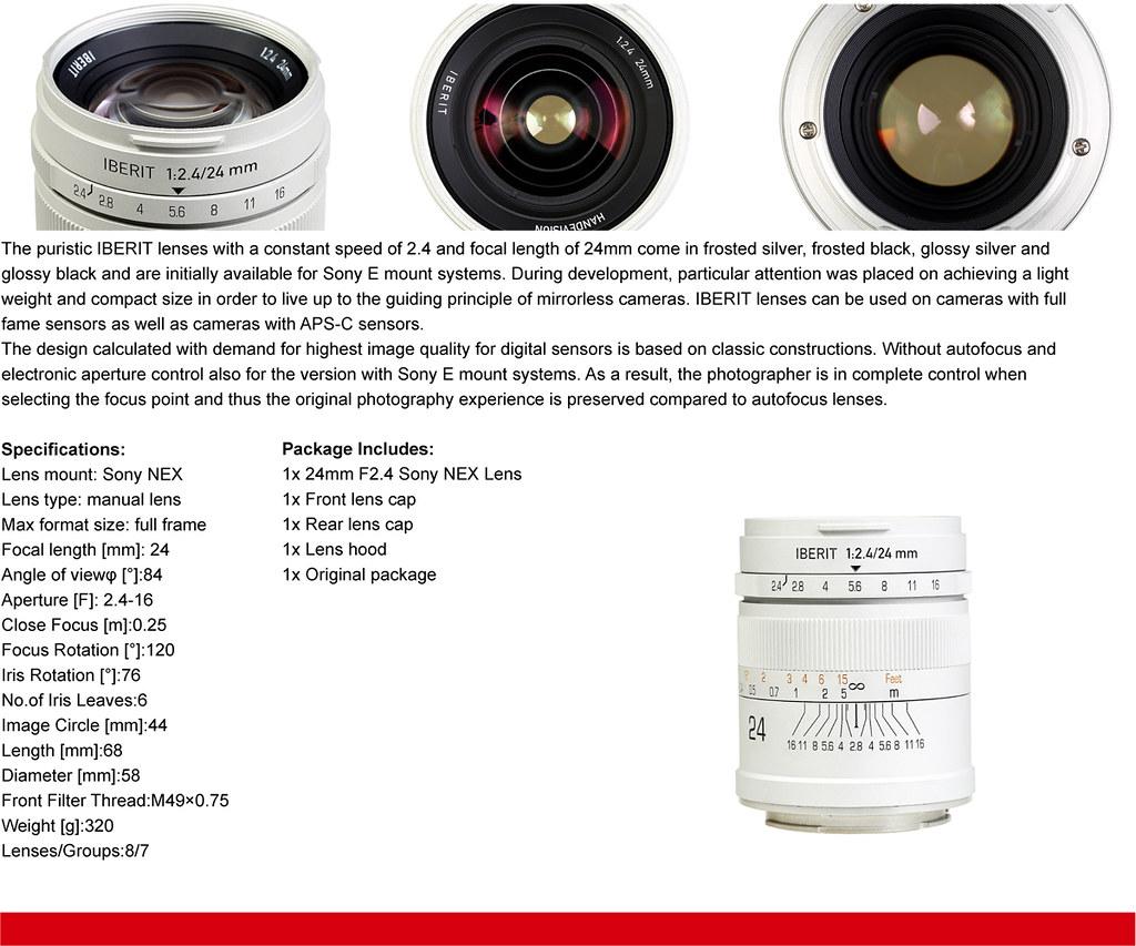 IBERIT 24mm F2.4 Full Frame Camera lenses for Sony NEX Mou…   Flickr