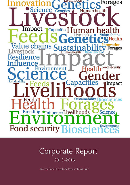 ILRI Corporate Report 2015-2016: Cover