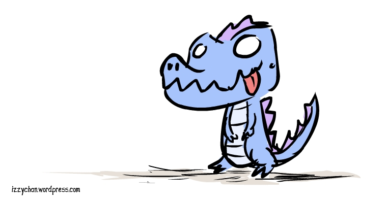 blue and purple dinosaur