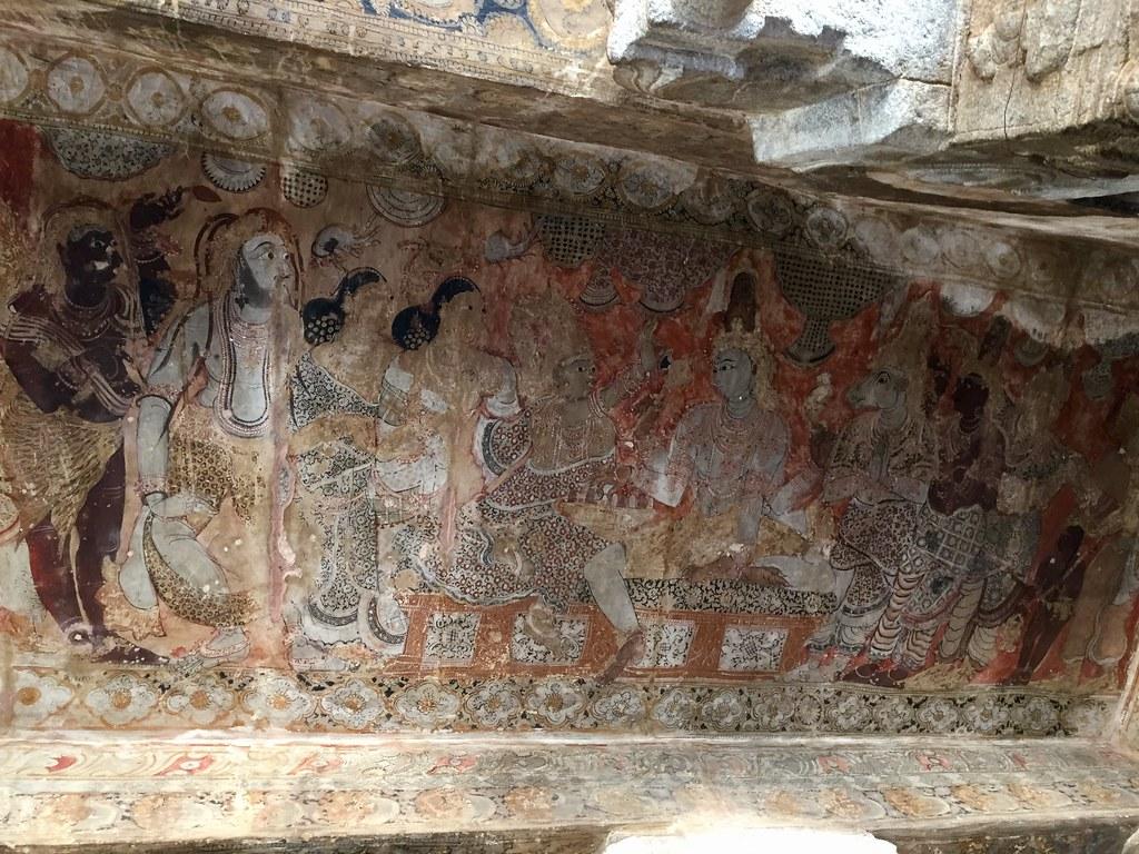 Ceiling painting - Shiva's wedding