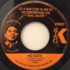 JAMES BROWN:LET A MAN COME IN AND DO THE POPCORN PART ONE(LABEL SIDE-A)