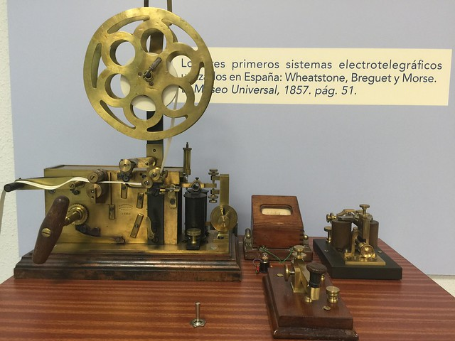 Sistemas electrotelegráficos expuestos en el Museo Postal y Telegráfico (Madrid)