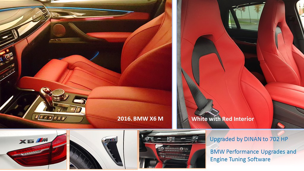 2016 Bmw X6 M White With Red Interior Upgraded By Dinan Flickr