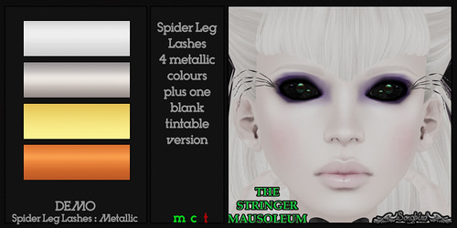 ~SongBird~ & *TSM* Spider Leg Lashes : Metallic | by ~SongBird~ In Second Life