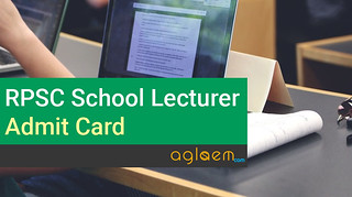 RPSC 1st Grade School Lecturer Admit Card / Hall Ticket