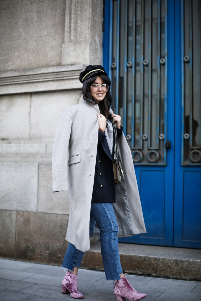velvet-pink-botties-asos-long-coat-grey-streetstyle-myblueberrynightsblog8