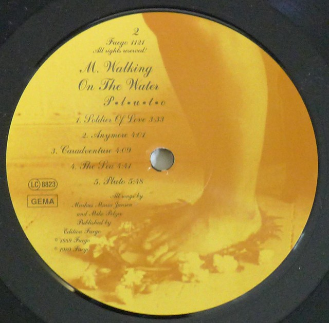"M WALKING ON THE WATER PLUTO P.L.U.T.O 12"" LP VINYL"