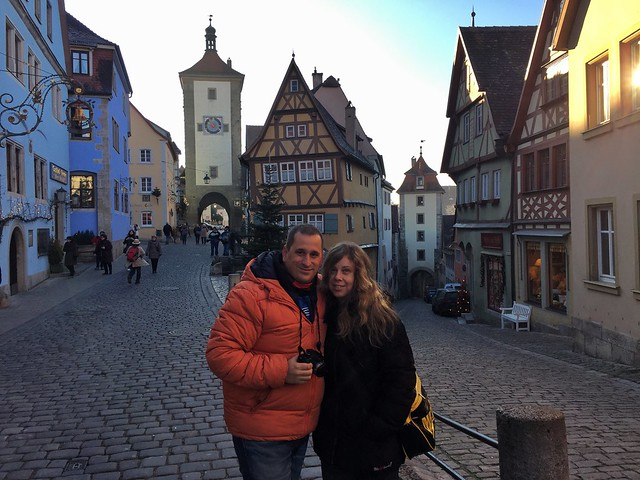 Sele y Rebeca en Rothenburg ob der Tauber (Norte de Baviera, Alemania)