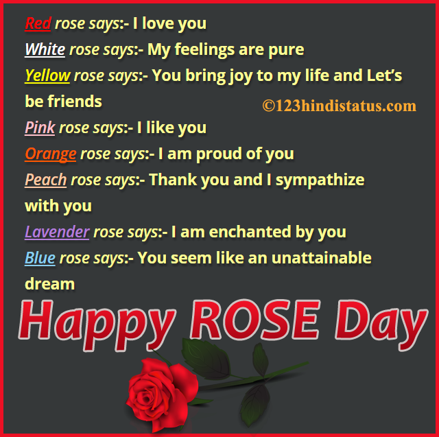 Rose Day SMS in Hindi - 123 Hindi Status