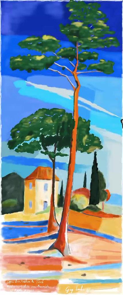 Vidéo de la réalisation d'un tableau Sur iPad Pro avec Apple Pencil Et le logiciel Procréate 2016