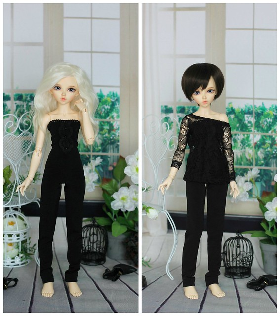 Lace blouse & overall