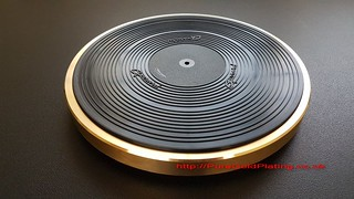 Record Deck Platter in Gold Plate | by PureGoldPlating