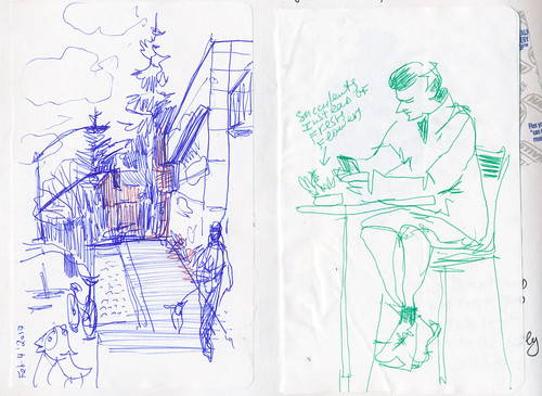 Sketchbook #102: Sketching while waiting.