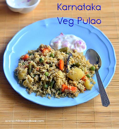 Vegetable palav recipe karnataka style veg pulao rice bath karnataka style veg pulao recipe forumfinder Choice Image