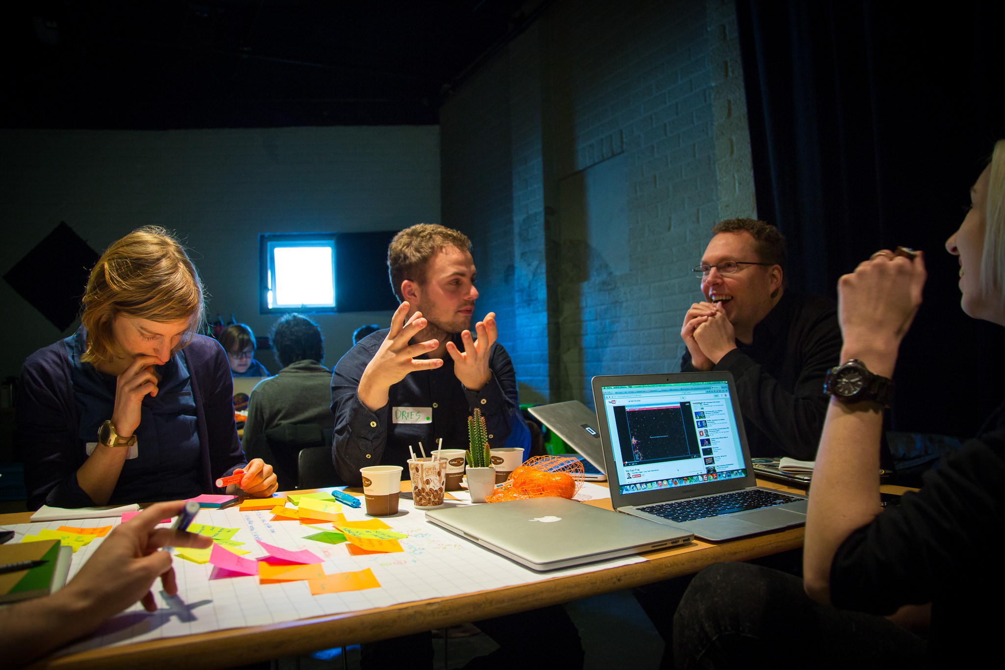Participants work at a Hackastory event in Amsterdam. (Photo: Hackastory)