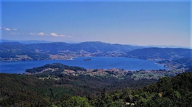 Vistas desde el mirador de Cotorredondo (Rías Baixas, Galicia)