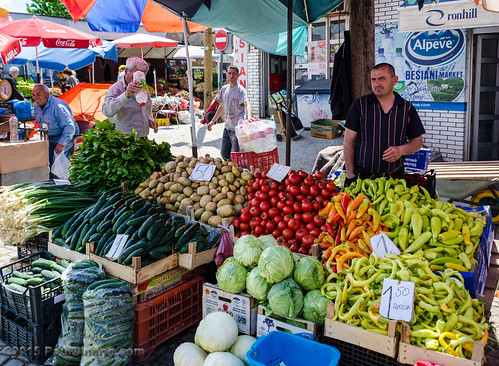 Fresh Produce @ the Bazaar - Pristina, Kosovo | by Paul Diming