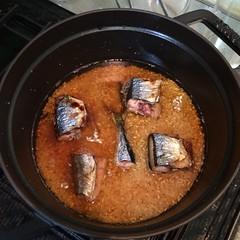 ストウブでサンマの炊き込み御飯を作る