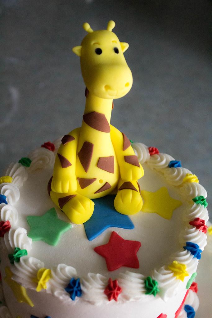 Giraffe 1st Birthday Cake Graceful Cakes Flickr