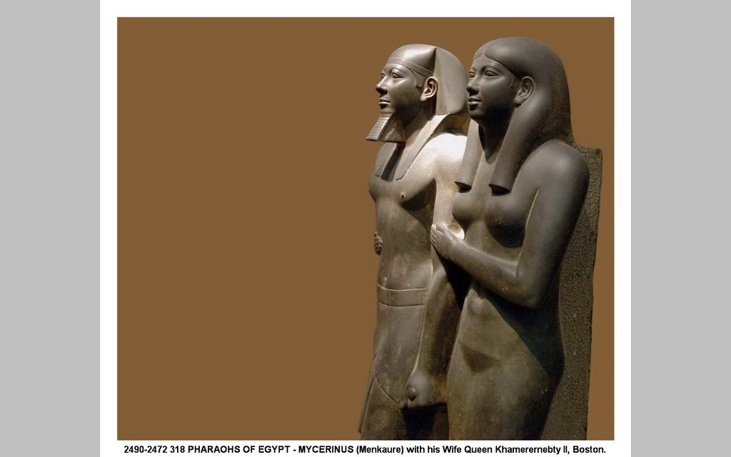 comparison between menkaure and his wife Read and learn for free about the following article: king menkaure (mycerinus) and queen.