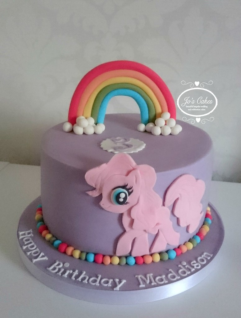 My Little Pony Style 3rd Birthday Cake