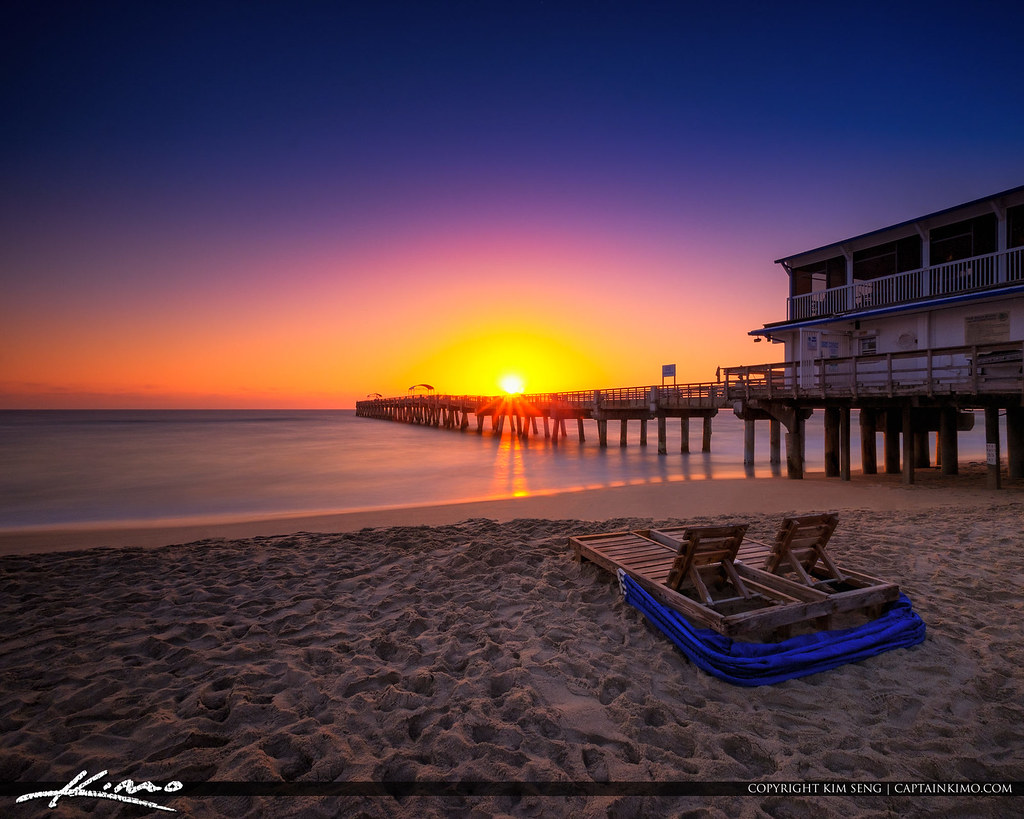 Lake worth pier sunrise smooth ocean at beach square flickr for Lake worth pier fishing