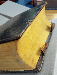 Side view of Christoph Sauer's 1743 Bible