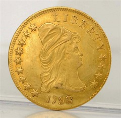 1798 8 Over 7 Capped Bust Eagle obverse
