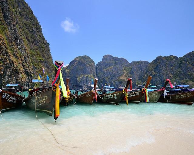 Maya Beach, la playa más visitada de Tailandia