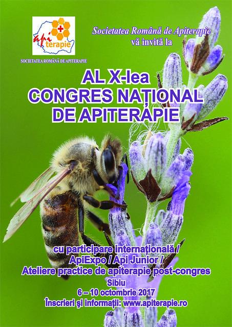 Congresul al X-lea al Societatii Romane de Apiterapie - SIbiu/06-10 octombrie 2017