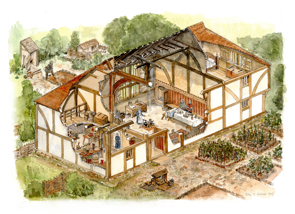 medieval house in east sussex the final cutaway drawing