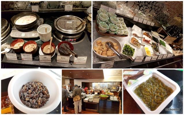 breakfast buffet selection at Mercure Hotel