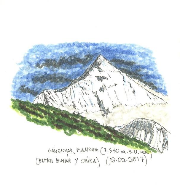 Gangkhar Puensum (7.570 m.s.n.m.)