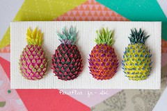 Blogged about these colorful #pineapples http://tinyurl.com/pu8urur 😊 🍍 They're available too, but you need to email me ✉sk@petitplat.fr  Now if you'll excuse me I'll be working on tiny gingerbread houses.