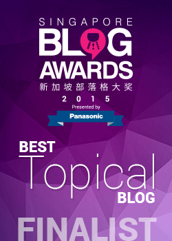 Singapore Blog Awards 2015 - Best Topical Blog Finalist