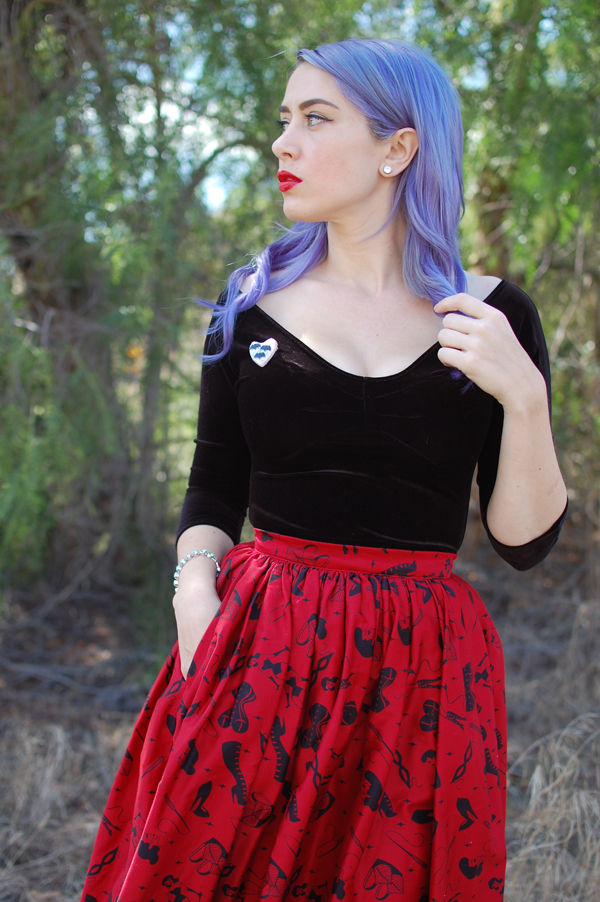pinup girl clothing deadly dames skirt