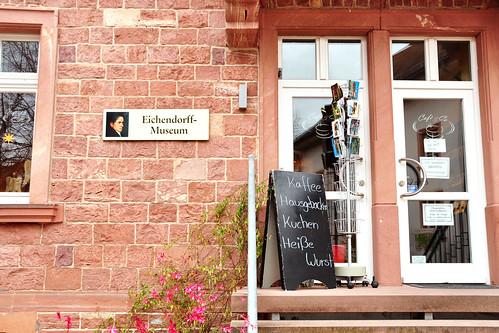 Neckarsteinach Vierburgenstadt Café am Geopark Burgenausstellung Eichendorff Eichendorff-Museum Kuhländchen Romantik Foto Brigitte Stolle Mannheim November 2015