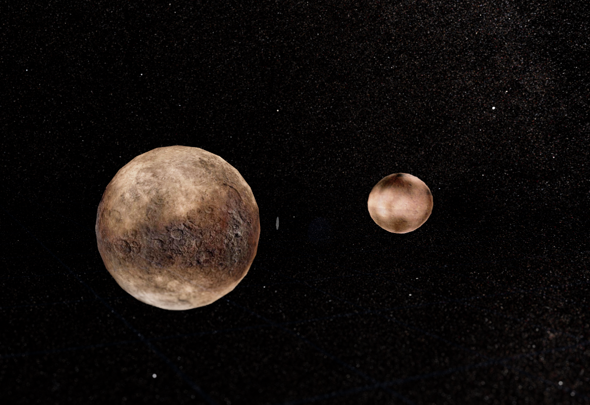 Pluto and Charon in