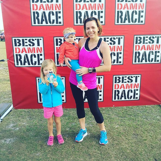 Audrey took my medal and told me if I wanted my own, I'd have to run again. That's not going to happen but it was a great 13.1 and a beautiful course! See you next year, #bdrsafetyharbor...
