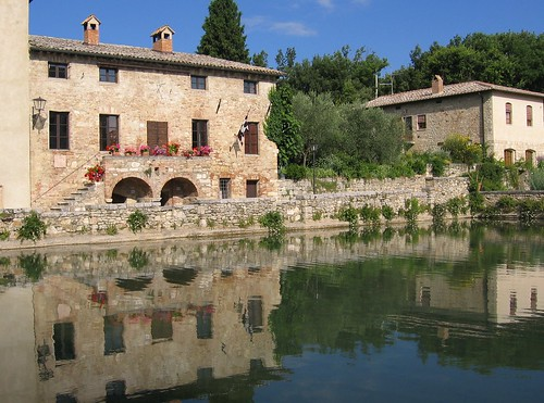 The baths of Bagno Vignoni. From Uncovering Lesser-known Historic Sites on Italy's Pilgrimage Route