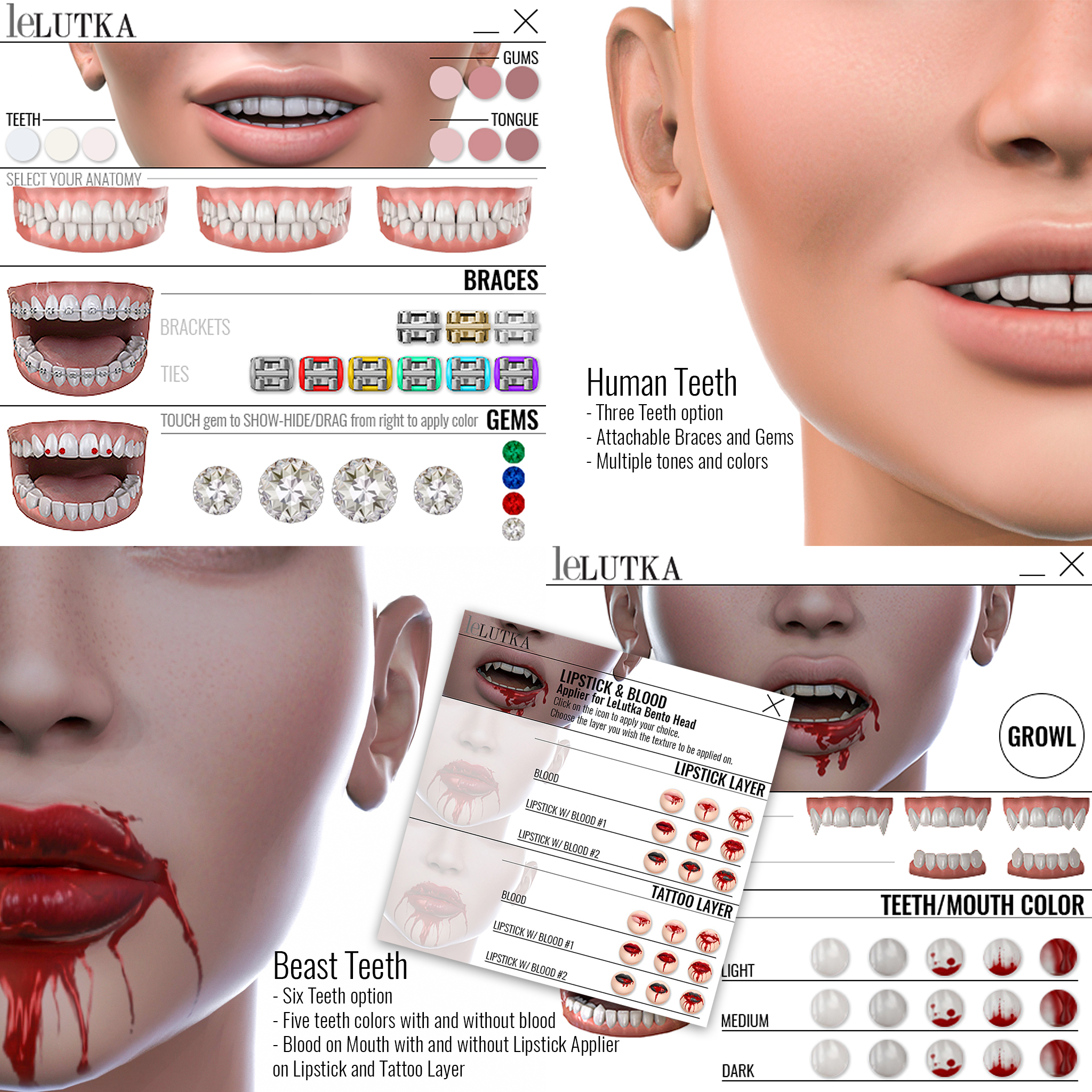 Lelutka-Teeth Advanced-UPDATED