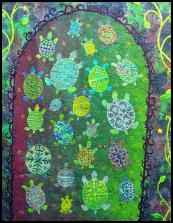 A wider viewpoint on the turtles' quilt | by Ali Bear