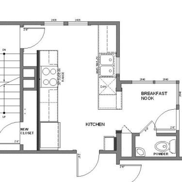 Peninsula Kitchen Floor Plan kitchen floor plan designs. kitchen. home plan and house design ideas