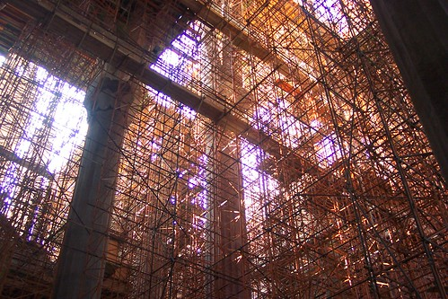 Sagrada Familia cathedral scaffolding Barcelona July 2006 | by Village Pics