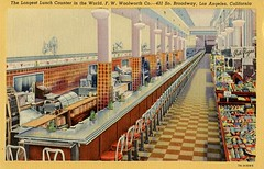 The Longest Lunch Counter in the World, F. W. Woolworth Co. - 431 So. Broadway, Los Angeles, California | by zilf