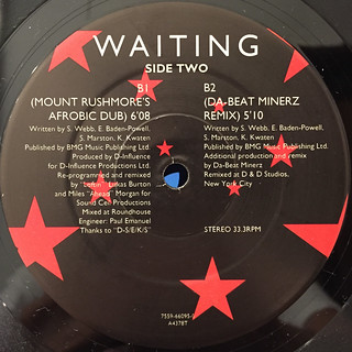 D-INFULENCE:WAITING(LABEL SIDE-B) | by VINYL7 RECORDS