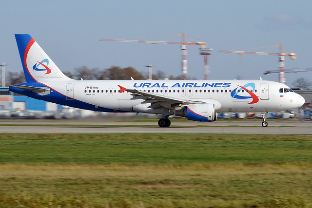 Ural Airlines, VP-BMW, Airbus A320-214