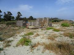 Belle cabane de pêcheurs sur la plage de l'étang Del Sale