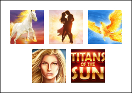 free Titans of the Sun - Theia slot game symbols